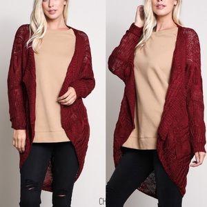 VANDA Softest Knit Cardigan - WINE